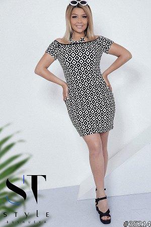 Силуэтное платье 35214