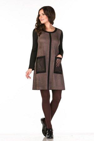 Платье серо-фиолетовый р. 48