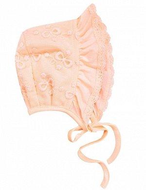 Розовый персик Чепчик для девочек