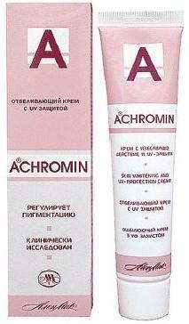 Ахромин/achromin крем отбеливающий с уф-защитой 45мл