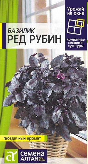 Зелень Базилик Ред Рубин/Сем Алт/цп 0,3 гр. УРОЖАЙ НА ОКНЕ! НОВИНКА!