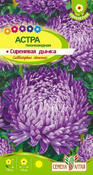 Астра Сиреневая Дымка пионовидная/Сем Алт/цп 0,3 гр.