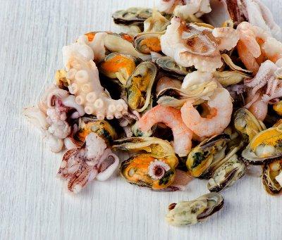 Крабовое мясо в подарок — Морской коктейль — Рыбные
