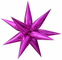 "Шар Ф 26"" Звезда Фигурная Металлик пурпурный 65 см /К"