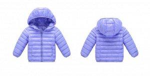 Демисезонная детская куртка, цвет светло-фиолетовый
