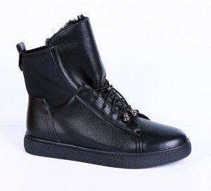 19136-01-1 черный (Иск.кожа/Иск.мех) Ботинки женские