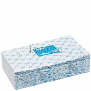 Полотенце одноразовое 35x70 голубое White Line