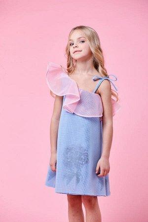 Сарафан Принт Blue Flowers, 100%полиамид.подкл.100%хлопок, Россия