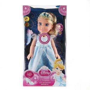 """Карапуз. Кукла """"Disney Принцесса. Золушка"""" 37см, на бат..озвуч., светится амулет арт.CIND001"""