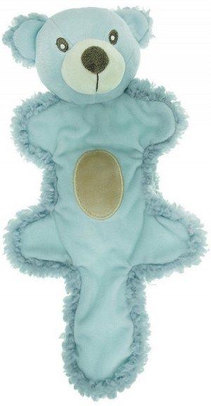 AROMADOG Игрушка для собак Мишка с хвостом 25 см голубой