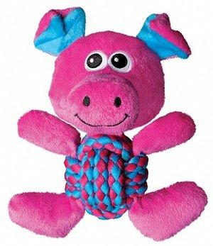 KONG игрушка для собак Weave Knots Свинка средняя 22х20 см