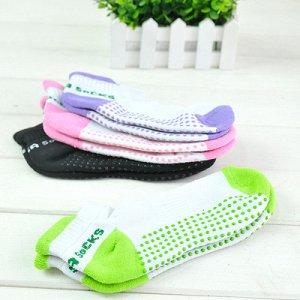 Носки для йоги и батута с прорезиненной подошвой