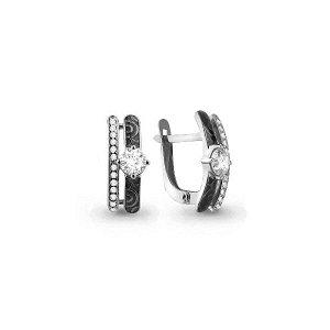 Серебряные серьги с фианитом 46412А.5