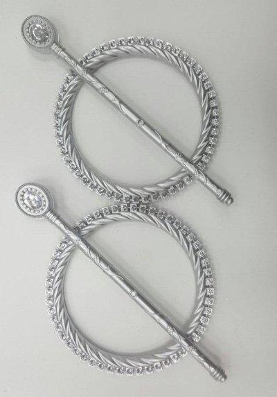 Нитяные шторы - Кисея! Огромный выбор, оптовая цена — Заколки для штор — Аксессуары для штор