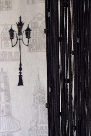 Кисея, нитяные шторы с бусинами  Бомба