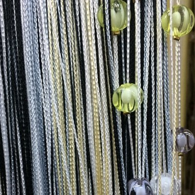 Нитяные шторы - Кисея! Огромный выбор, оптовая цена — Кисея Радуга с ромбами плотная — Шторы