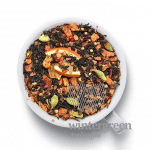 Адмирал Черный чай с кусочками яблок, корицей, дольками апельсина, кориандром, кардамоном, гвоздикой и розовым перцем, с интригующим ароматом корицы и ярким вкусом с едва уловимой остринкой в послевку