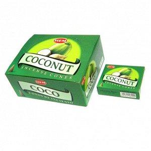 Конусные благовония Coconut КОКОС блок 12 шт.