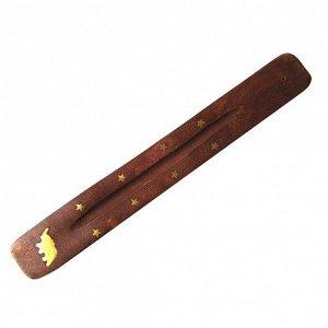 """Подставка под благовония """"Лодочка"""" деревянная 25,5 см в ассортименте"""