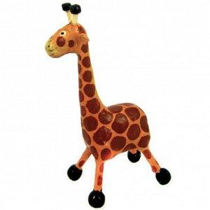Жираф фигурка 13х7см, дерево