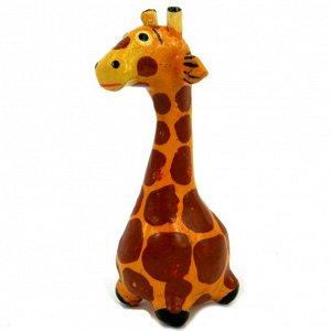 Жираф фигурка 6х2,5см, дерево