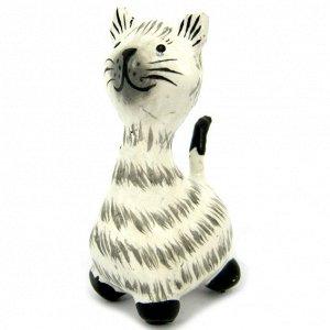 Кошка фигурка 5х2,5см, дерево