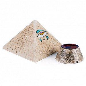 Пирамида энергитическая Хеопса большая П-01, керамика 12х8см
