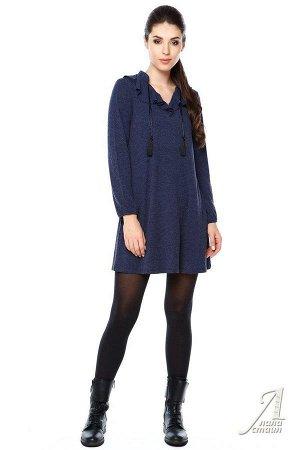 Туника или платье (подойдет для беременных) р. 46 цвет Синий