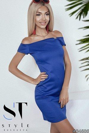 Силуэтное платье 34686