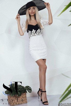 Комплект двойка  34186 (платье+болеро)