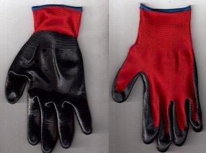 Перчатки Перчатки рабочие нейлоновые  13 класс вязки  с нитрильным обливом,   СУПЕР ЛЮКС