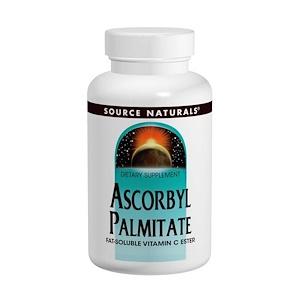 Source Naturals, Аскорбил пальмитат, 500 мг, 90 таблеток