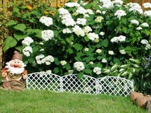 Забор декоративный №6 Плетенка белая