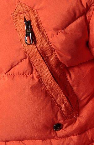 Куртка мужская (оранжевый) пуховик с мехом