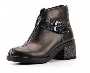 Ботинки кожа коричневый металик демисезон