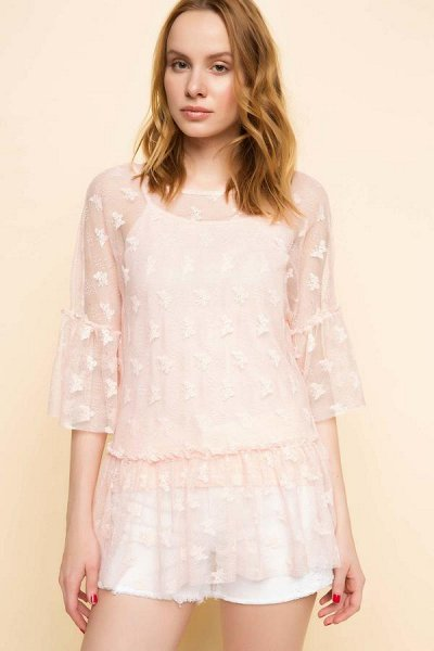 DEFACTO - 💃🏻толстовки, свитеры,джемпер, рубашки, футболки🕺🏻 — Блузы женственные и элегантные, 46 - 56 размеры (Размер+) — Большие размеры
