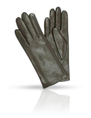 Перчатки темно - шоколадного цвета