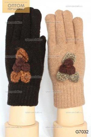 Перчатки женские вязаные