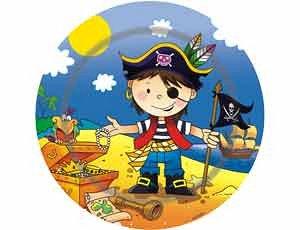 """Тарелка бумажная """"Маленький пират"""", 17 см, 6 шт."""