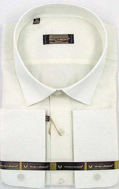 RICARDO. Рубашки. Мужчинам тоже нужна красота — Рост 170-182 Силуэт Приталенная под запонки длинный рукав