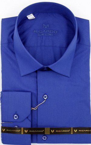Рубашка рост 182-188 приталенная длинный рукав