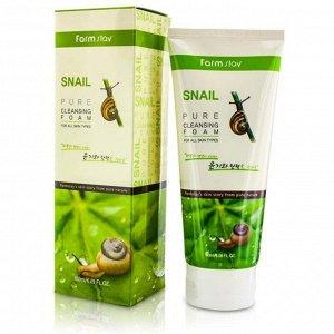 Пенка очищающая с экстрактом улитки FarmStay Snail Pure Cleansing Foam, 180ml