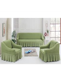 Чехол для мебели 3 предм, фисташковый