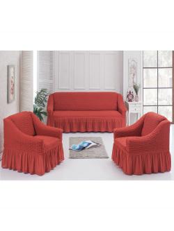 Чехол для мебели 3 предм, терракотовый