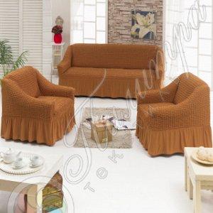 Чехол для мебели 3 предм, рыже-коричневый