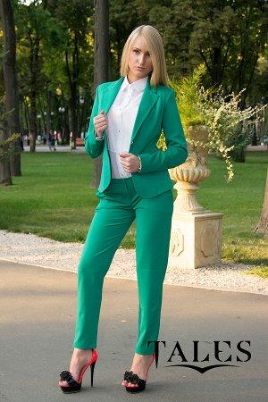 Костюм женский брючный Classic_green