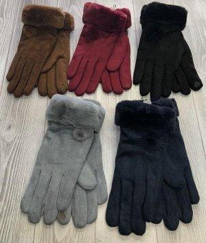 Перчатки  БОРДОВЫЙ ЦВЕТ