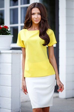 Блуза с манжетами цвет желтый