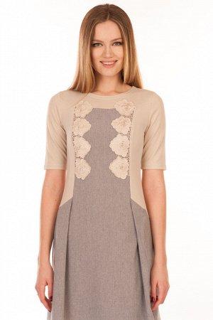Платье*Жанна кремовый,дешевле