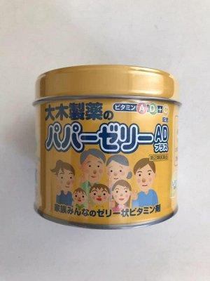Детские витамины-желе со вкусом лимона Papa Vitamin Jelly в железной банке, 120 шт